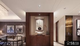 现代中式设计玄关装饰效果图片