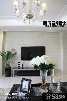 现代风格小复式电视背景墙装修效果图