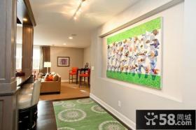 120平方复式楼玄关博古架装修效果图大全2012图片