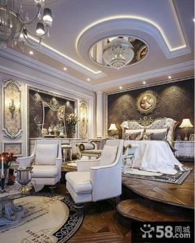 欧式豪华别墅卧室装修效果图欣赏
