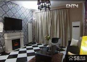 交换空间现代风格客厅电视背景墙装修效果图