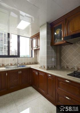 美式家装设计厨房图欣赏