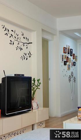 简约壁纸电视背景墙装修效果图大全