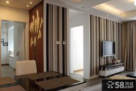 现代条纹壁纸电视墙装修效果图