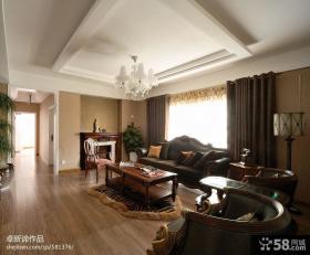 美式风格家装客厅吊顶装修效果图