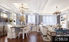 美式简约风格别墅室内设计效果图
