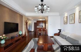 家居美式装饰客厅电视背景墙2015