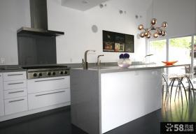 现代简约风格复式楼厨房装修效果图