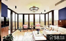 美式混搭风格三居室设计
