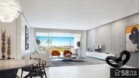 豪华别墅创意风格客厅电视背景墙图片