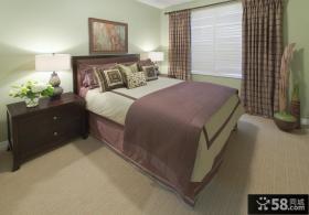 简约风格小卧室装修效果图大全2013图片 卧室窗帘图片