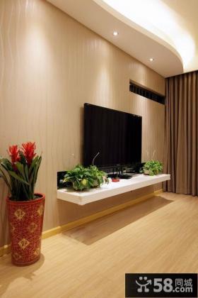 优质简约电视背景墙装修图欣赏