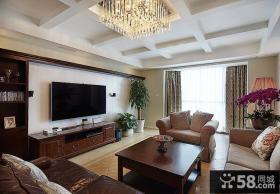美式装饰客厅电视背景墙大全