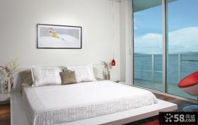 简约风格主卧室装修效果图大全2012图片 卧室落地窗装修效果图