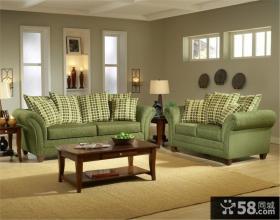 美式乡村风格客厅沙发效果图