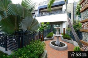 现代风格别墅阳台花园设计图片