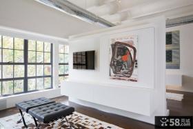 北欧风格电视背景墙设计效果图
