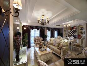 欧式温馨浪漫复式家居装潢案例