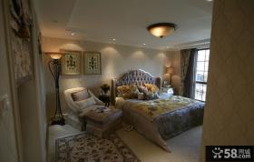 欧式样板间设计卧室效果图