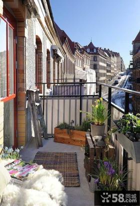 开放式小阳台装修效果图