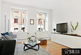 客厅电视背景墙装修效果图 小户型装修效果图