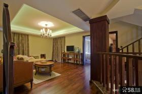 优质复式楼客厅吊顶装修效果图大全2013图片