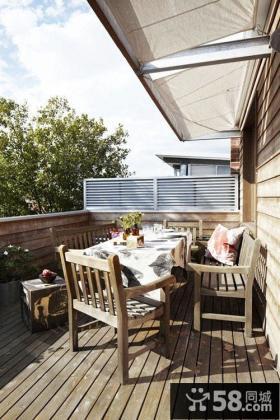 中式客厅阳台吊顶装修效果图