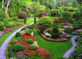 私人别墅花园设计效果图