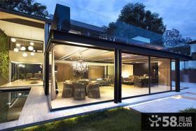 现代豪华别墅外观设计效果图