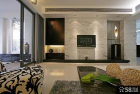 现代风格客厅大理石电视背景墙装修效果图欣赏