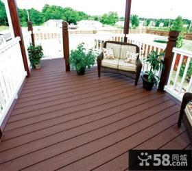 欧式现代阳台木地板装修图片欣赏