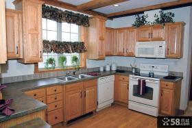 实木整体厨房装修效果图大全