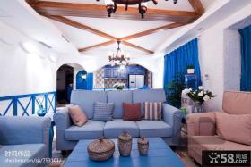 地中海风格家装客厅吊顶装修效果图