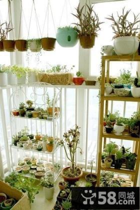 宜家风格阳台装修设计 盆栽植物图片
