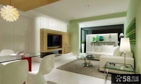 惠州万林湖现代小户型客厅装修效果图