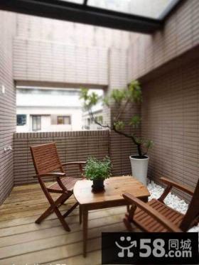 简约家居阳台装饰设计效果图