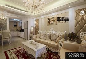 欧式风格客厅沙发背景墙设计图片