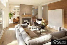 150平米复式楼客厅装修效果图