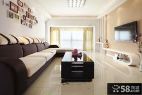 现代简约时尚客厅电视背景墙效果图