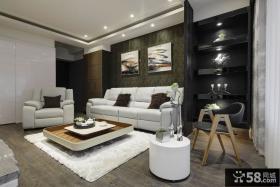现代日式装饰两室两厅设计效果图2015大全