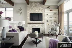 简约客厅电视背景墙效果图大全2013图片