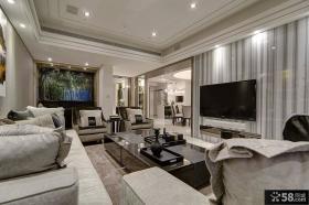 现代风格客厅电视背景墙装饰