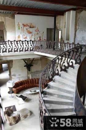 西班牙艺术家创意复式楼过道装修效果图大全2012图片