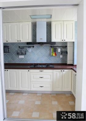 厨房欧式实木橱柜装修效果图大全2013图片