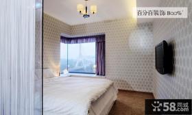 现代卧室电视背景墙装修效果图大全