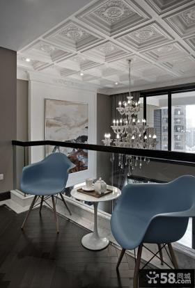 现代装修风格精装复式楼室内设计