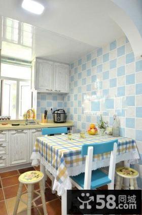 地中海厨房餐厅装修效果图片