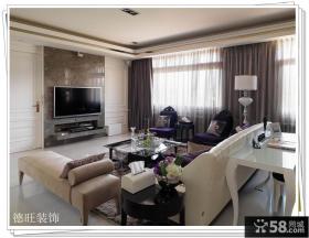 欧式风格客厅瓷砖电视背景墙装修效果图