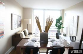 小平米客厅餐厅一体装修效果图