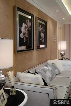 客厅装饰画效果图片
